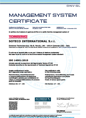 TECHNOSERVICE - ISO 14001 - soteco group