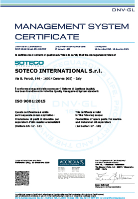 SOTECO INTERNATIONAL - ISO 9001 - soteco group
